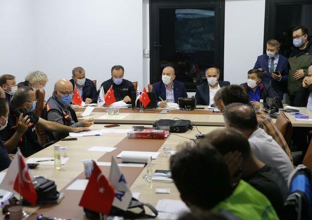 İçişleri Bakanı Soylu Giresun'da hasar tespit ve koordinasyon toplantısı gerçekleştirdi
