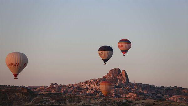 Kapadokya'da balon turları 5 ay sonra yeniden başladı - Sputnik Türkiye