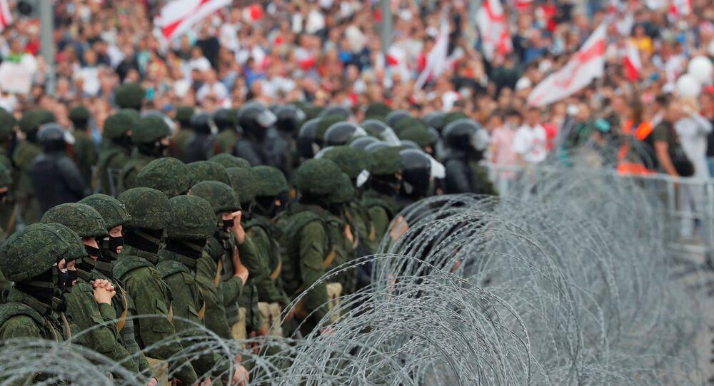 Belarus'un başkenti Minsk'te protestolar ve güvenlik güçleri