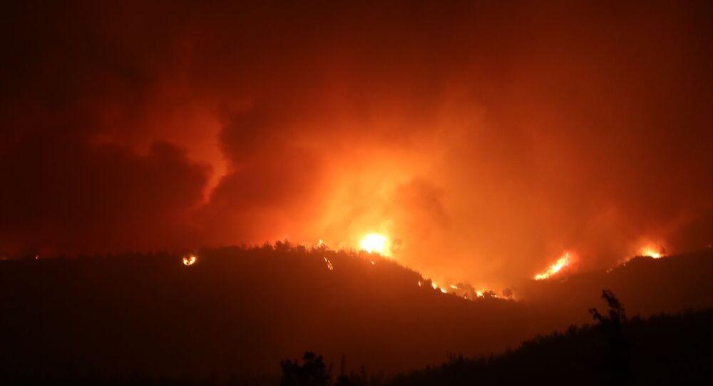 Kozan'da yangın
