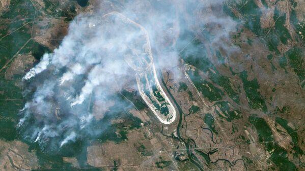 Orman yangınlarının uydu görüntüleri - Sputnik Türkiye