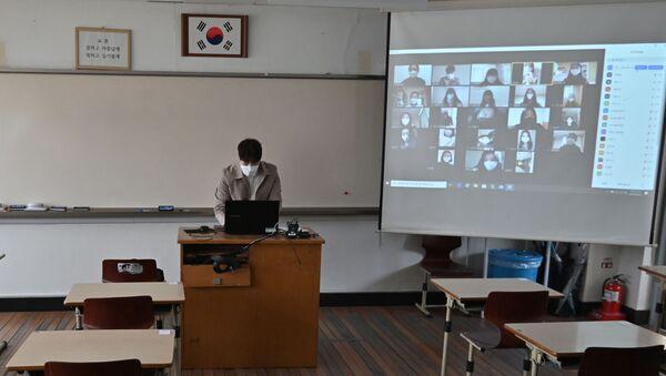 Güney Kore-koronavirüs-salgın-okul-uzaktan eğitim - Sputnik Türkiye