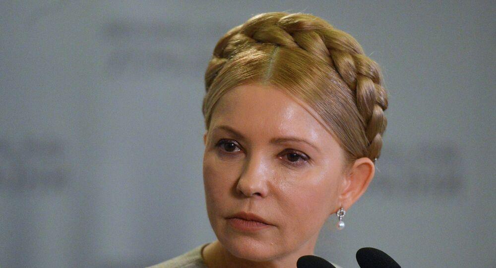 Eski Ukrayna Başbakanı ve muhalif Batkivşina Partisi lideri Yuliya Timoşenko