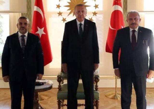 Cumhurbaşkanı Erdoğan, Libya Yüksek Devlet Konseyi Başkanı Mişri'yi kabul etti