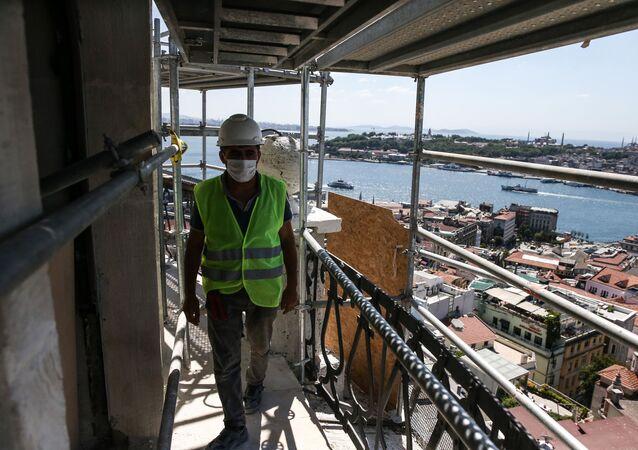 Galata Kulesi restorasyon çalışmaları