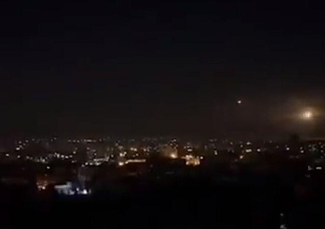Şam'a hava saldırısı, İsrail'den Şam'a saldırı