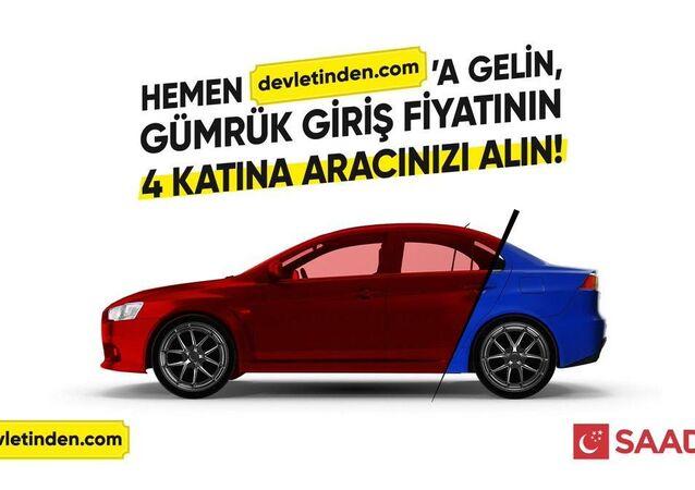 Saadet Partisi'nden ÖTV zammı videosu; devletinden.com'a gelin, gümrük giriş fiyatının 4 katına aracınızı alın