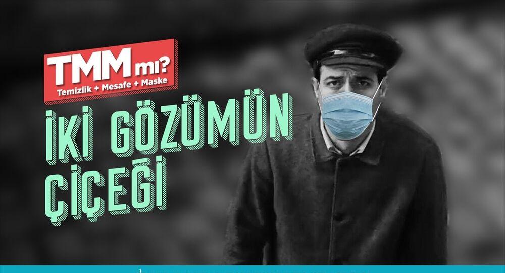 Kocaeli'de Yeşilçam sanatçılarının fotoğraflarıyla maske çağrısı