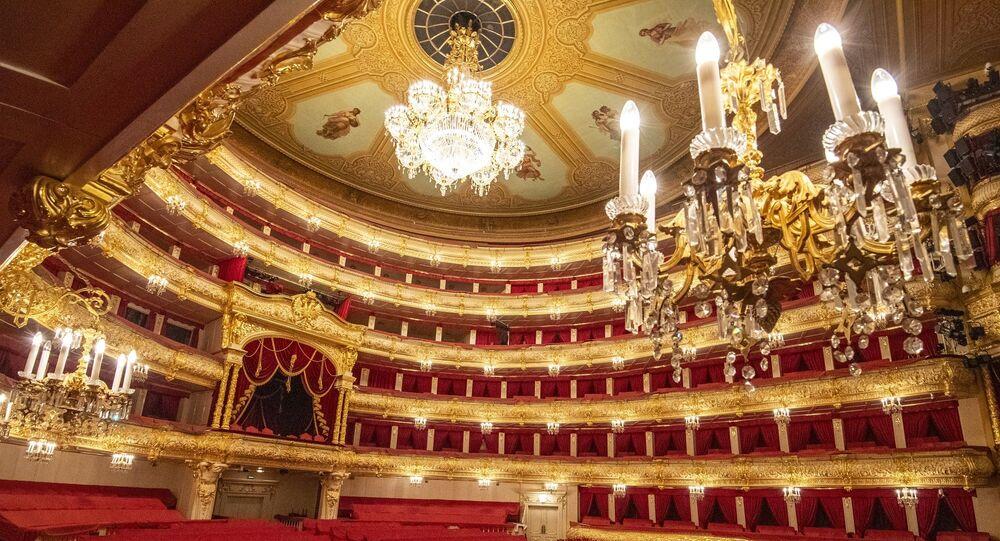 Rusya'nın başkenti Moskova'daki ünlü Bolşoy Tiyatrosu