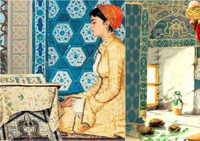 Osman Hamdi Bey - Kuran Okuyan Kız - Kaplumbağa Terbiyecisi