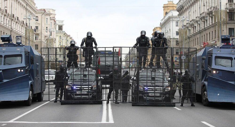 Belarus, protesto, polis,