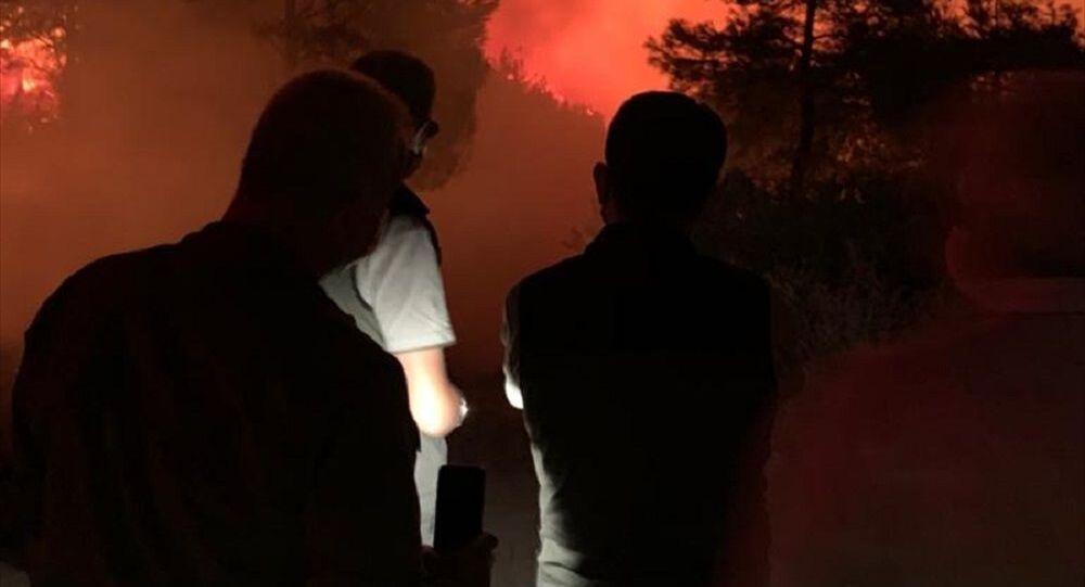Hatay'daki yangına karşı ateş tekniğiyle müdahale ediliyor