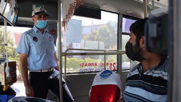 otobüs, maske denetimi - Sputnik Türkiye