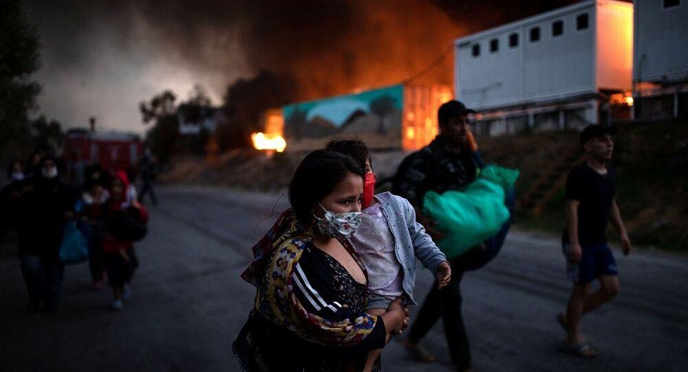 Yunanistan Moria mülteci kampı