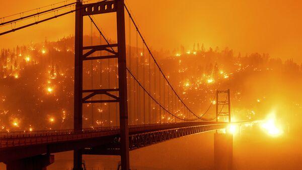 Kaliforniya'daki yangınlar - Sputnik Türkiye