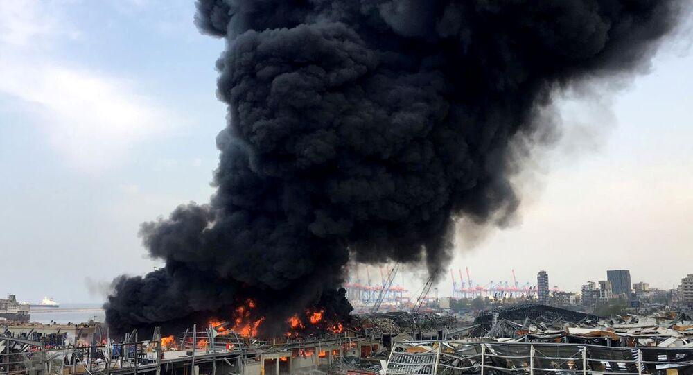 Lübnan'ın başkentinde, Beyrut Limanı'nda yangın, 10 Eylül 2020