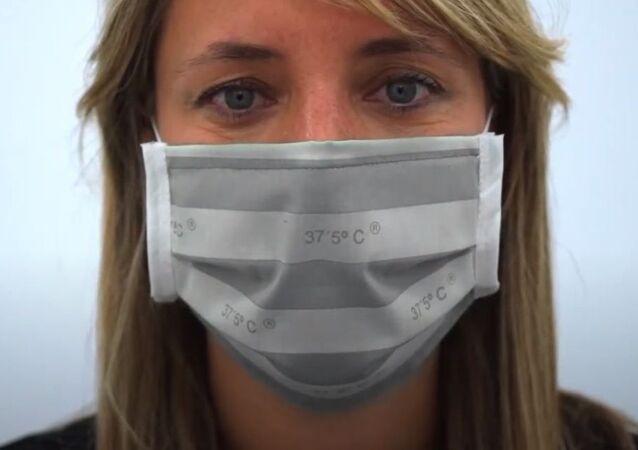İspanyol şirketi, yüksek ateş durumunda rengi değişen maske geliştirdi