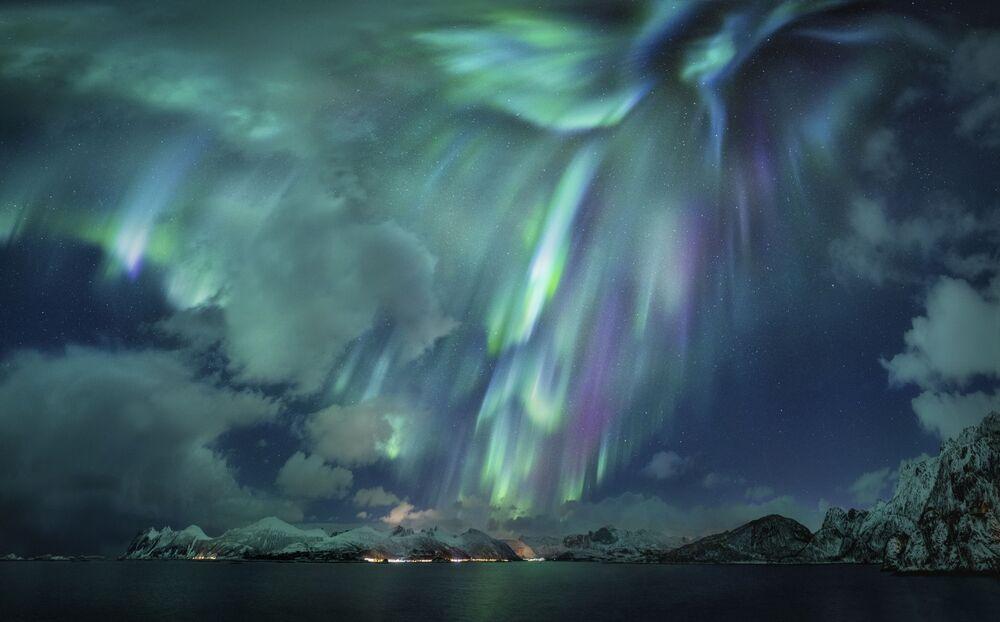 2020'nin En İyi Astronomi Fotoğrafçısı Yarışması'nın Kutup Işıkları kategorisinin birincisi Alman fotoğrafçı Nicholas Roemmelt'in The Green Lady çalışması
