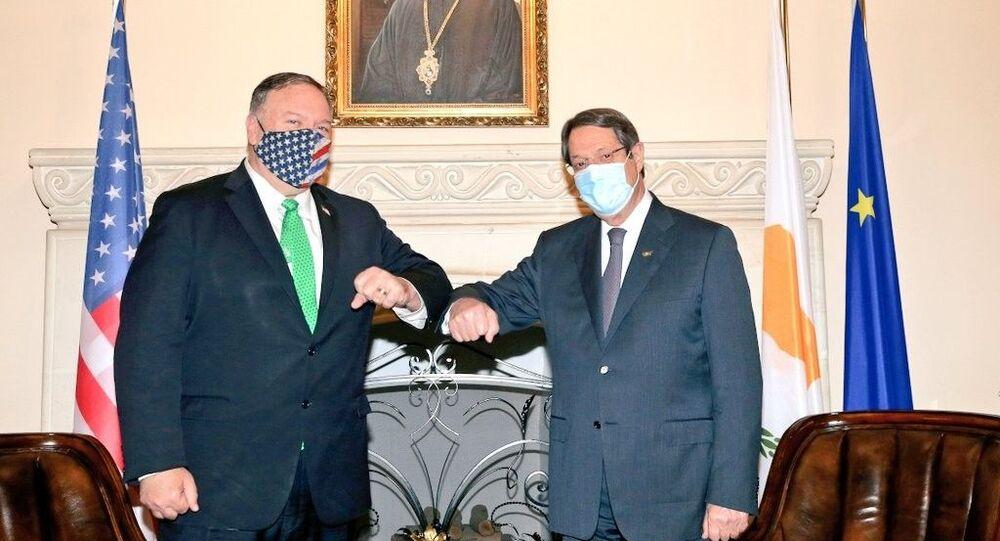 ABD Dışişleri Bakanı Mike Pompeo, ziyareti kapsamında Kıbrıs Lideri Nikos Anastasiadis ile görüştü