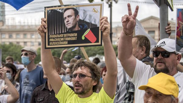 Rus muhalif politikacı Aleksey Navalnıy-protestolar - Sputnik Türkiye