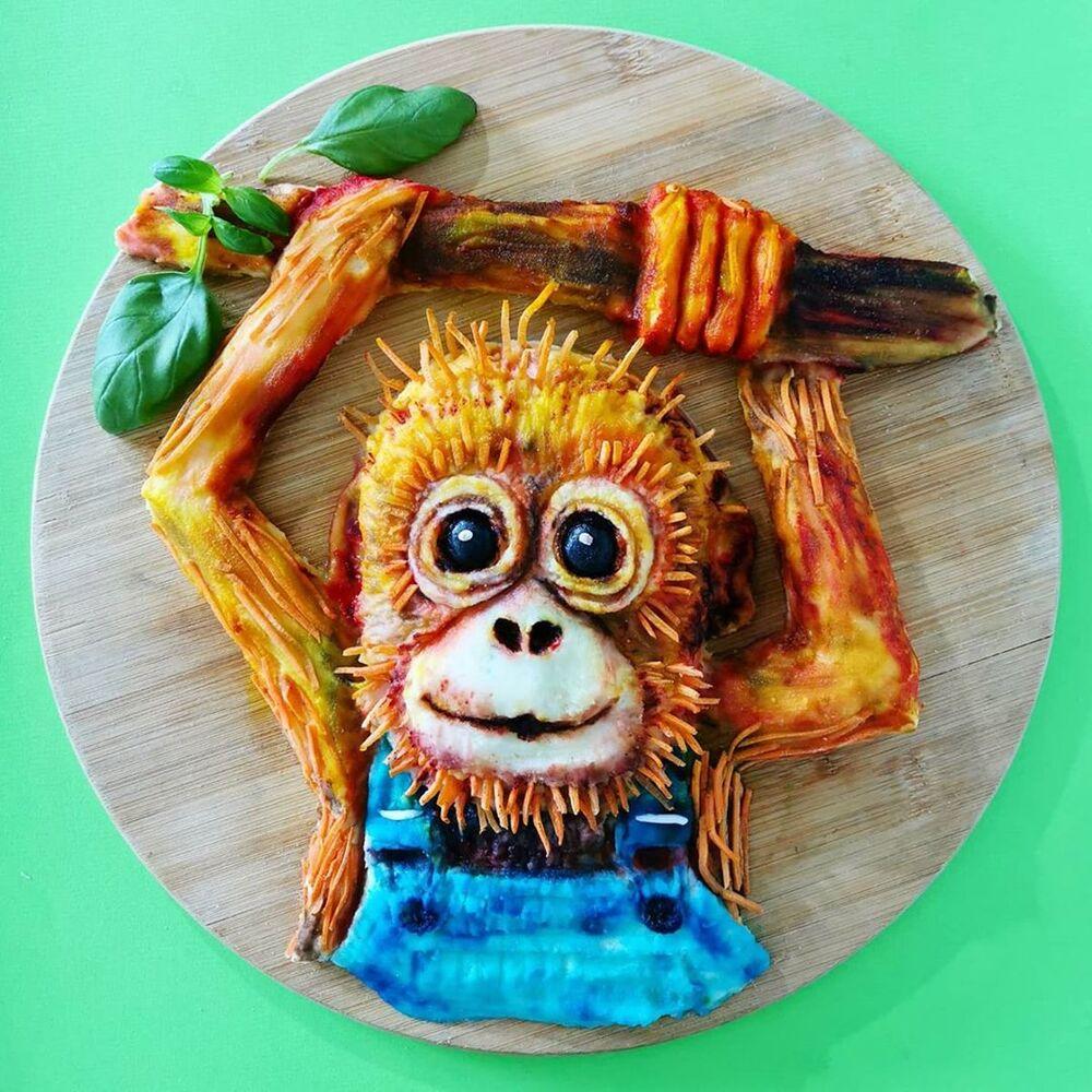 Jolanda, yemekleri adeta bir sanat eserine dönüştürüyor.