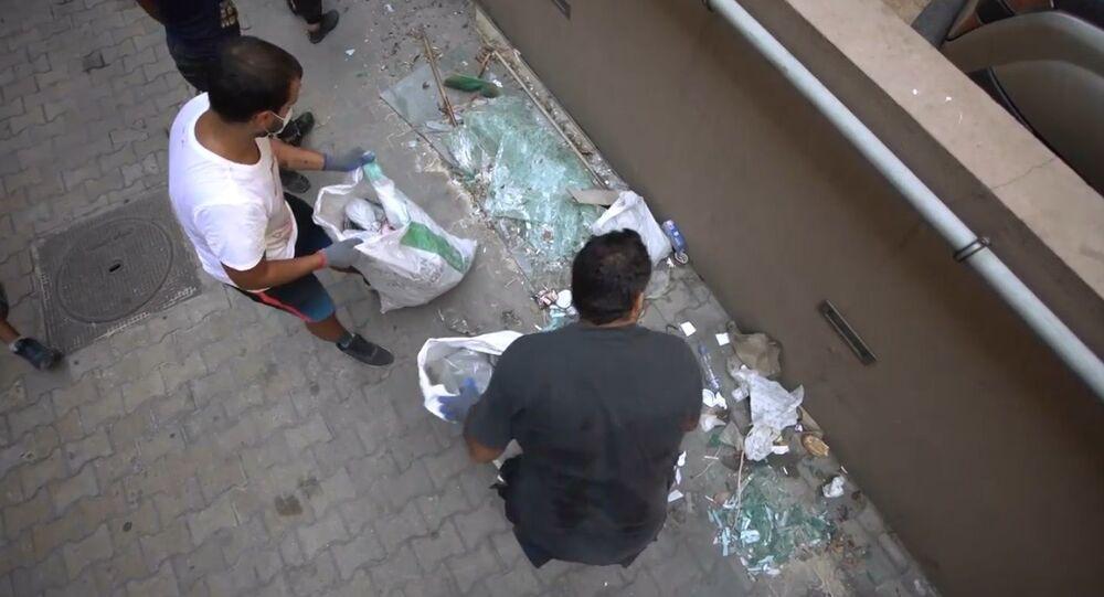 Beyrut patlamasında saçılan camlar için çevre dostu çözüm