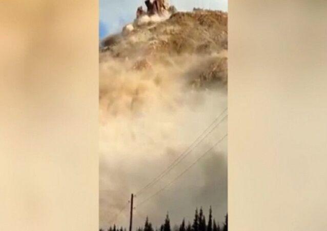 Kırgızistan'da kömür yatağında heyelan meydana geldi