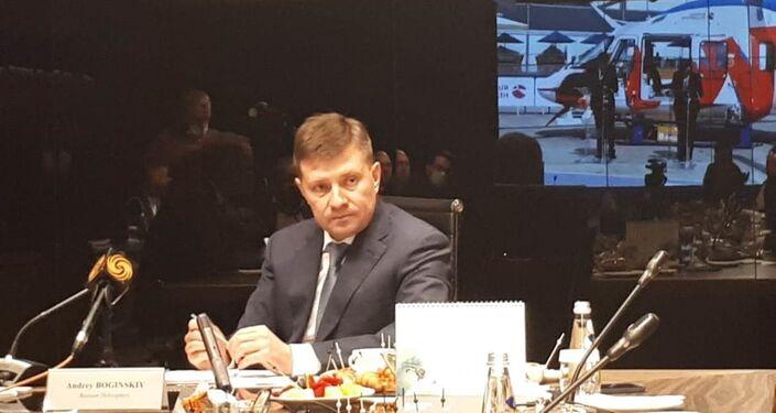 Vertoletı Rossi (Rus Helikopterleri) şirketinin Genel Müdürü Andrey Boginskiy
