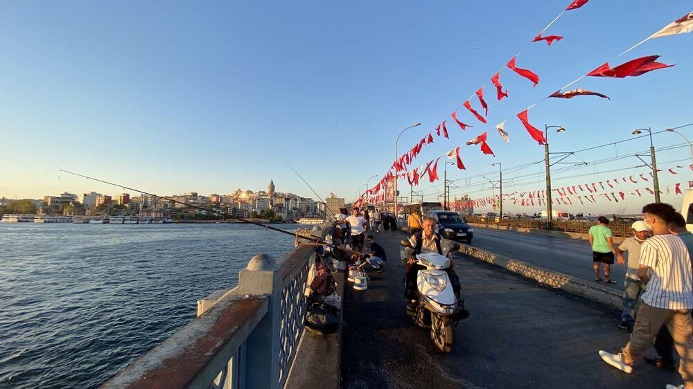 Galata Köprüsü'nden İstanbul manzarası