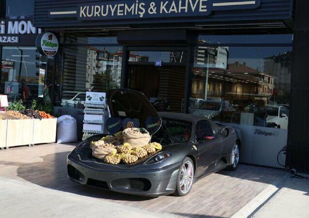 Ankara, lüks otomobil, bagajda ceviz satışı