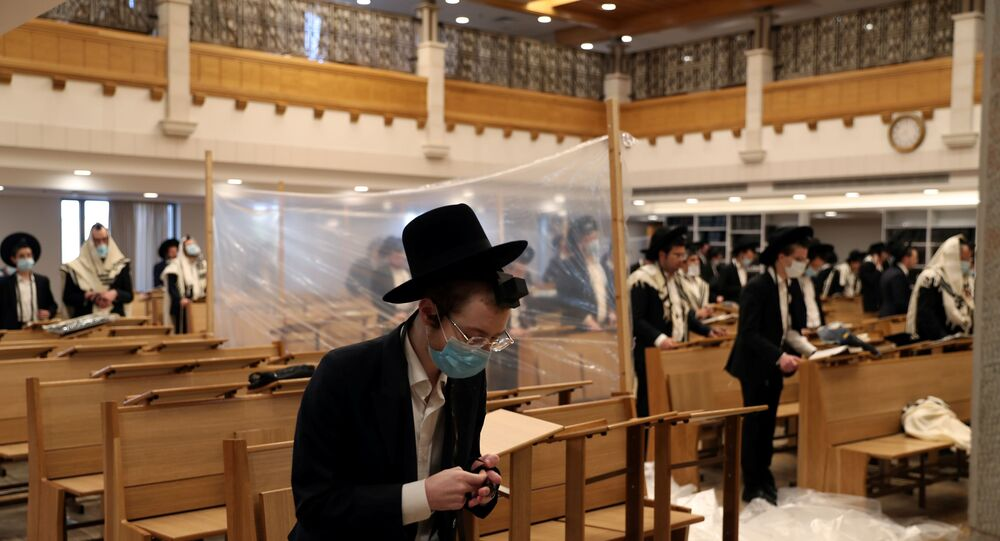 Kudüs - İsrail - sinagog - Yahudi - koronavirüs -  Kovid-19