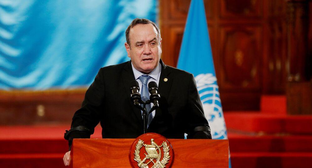 Guatemala Devlet Başkanı Alejandro Giammattei, Kovid-19'a yakalandığını duyurdu.