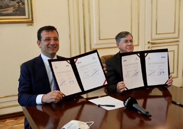 İBB Başkanı Ekrem İmamoğlu ve ABD Ankara Büyükelçisi David Satterfield