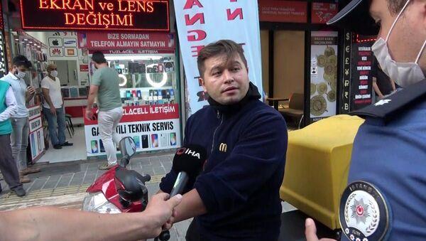 Tuzla'da maskesiz vatandaştan polise: Sen zor kullan, o zaman görüşürüz - Sputnik Türkiye