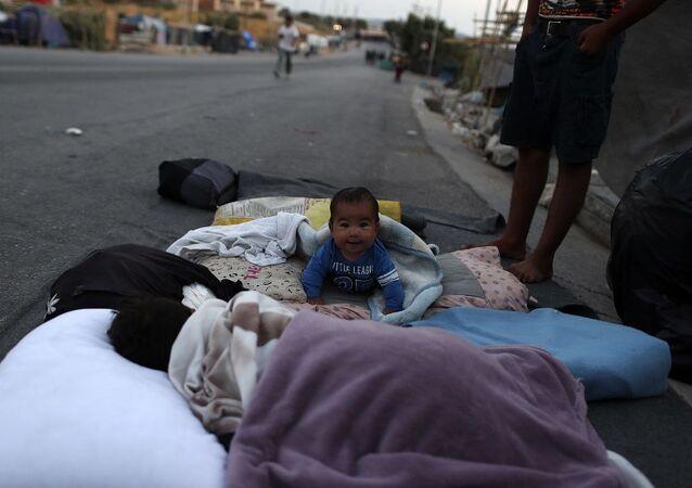 Moria sığınmacı kampı, Midilli, çocuk