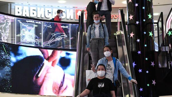 Moskova - AVM - koronavirüs - Kovid-10 - maske - Rusya - Sputnik Türkiye