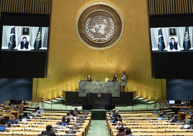 Pakistan Başbakanı İmran Han'ın BM Genel Kurulu konuşması