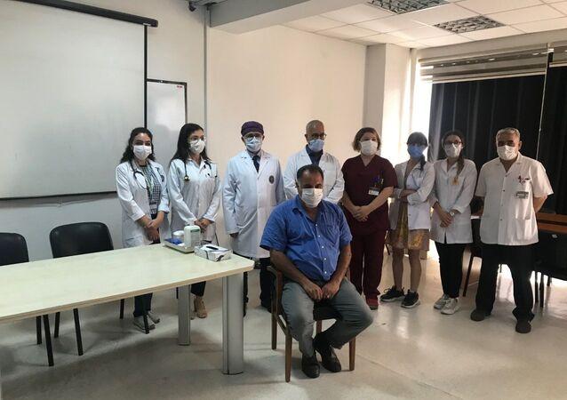 Cerrahpaşa'da ilk gönüllü aşılama