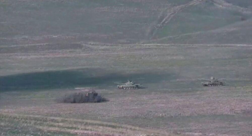 Dağlık Karabağ, Ermenistan'ın Azerbaycan tankını bombalaması