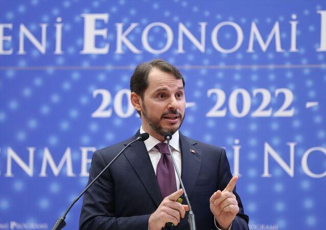 Hazine ve Maliye Bakanı Berat Albayrak, bakanlığın Ataşehir'deki yerleşkesinde Yeni Ekonomi Programı'na (YEP) katılarak 2021 yılı merkezi yönetim bütçesini açıkladı.