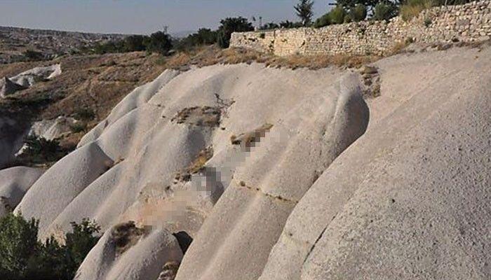Kapadokya'da oyulan kayalardan 'butik otel'