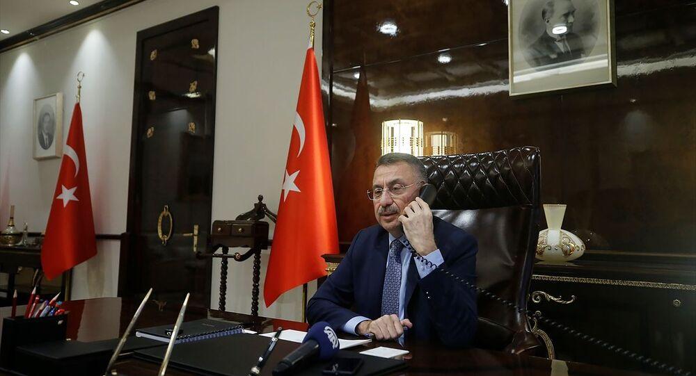 Cumhurbaşkanı Yardımcısı Fuat Oktay, Azerbaycan Cumhurbaşkanı Yardımcısı Hikmet Hacıyev ve Azerbaycan Başbakanı Ali Esedov ile telefon görüşmesi gerçekleştirdi.