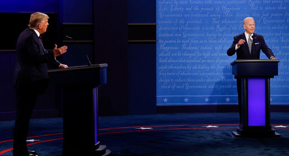 Trump ile Biden-canlı tartışma