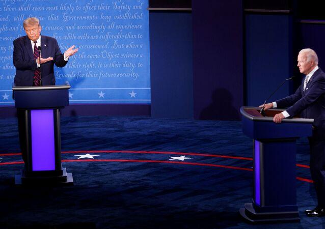 Donald Trump, Joe Biden-canlı tartışma