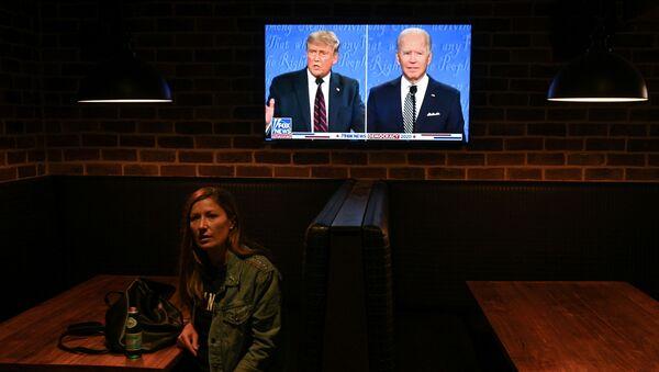 Trump-Biden canlı tartışması - Sputnik Türkiye