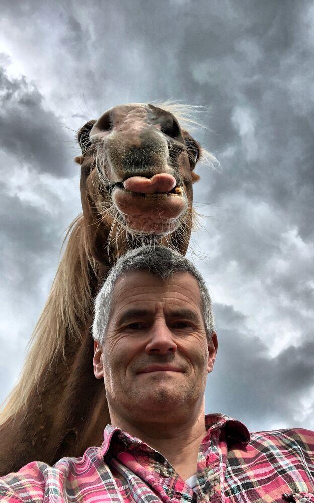 Mars Petcare Komik Evcil Hayvan Fotoğrafları Yarışması 2020 finalistlerinden Alman fotoğrafçı Peter von Shnen'in çalışması