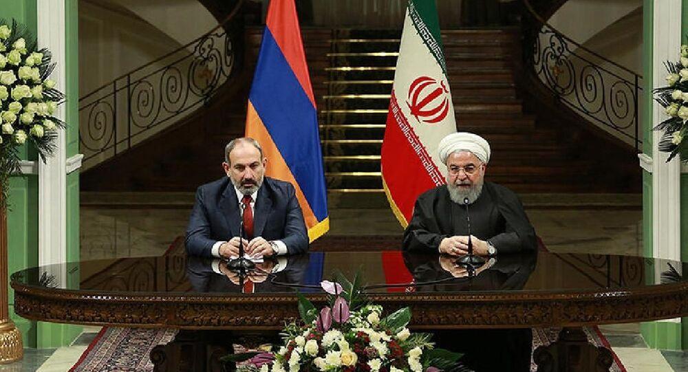 Ermenistan Başbakanı Nikol Paşinyan-İran Cumhurbaşkanı Hasan Ruhani