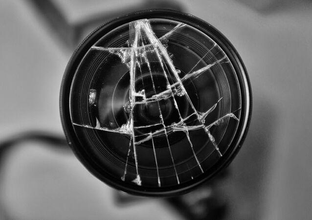 kırık fotoğraf makinesi filtresi