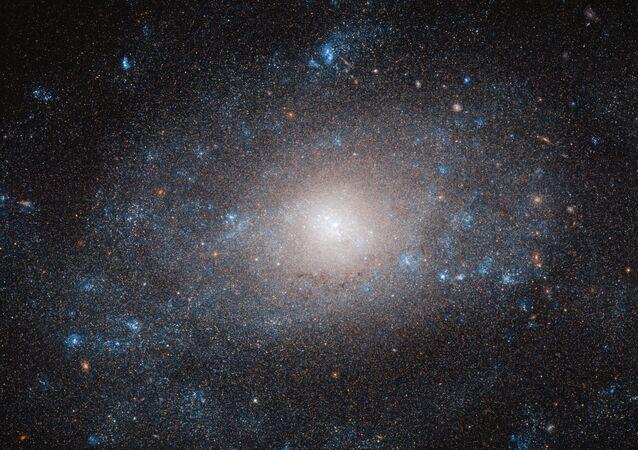 Büyük Ayı takımyıldızında yer alan NGC 5585 spiral galaksisi görüntüsü