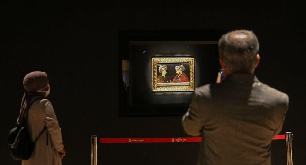 Fatih Sultan Mehmet'in portresi, Saraçhane başkanlık sarayı